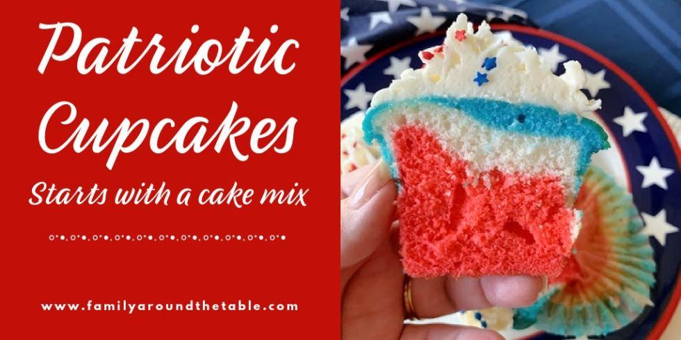 Patriotic cupcakes Twitter image.