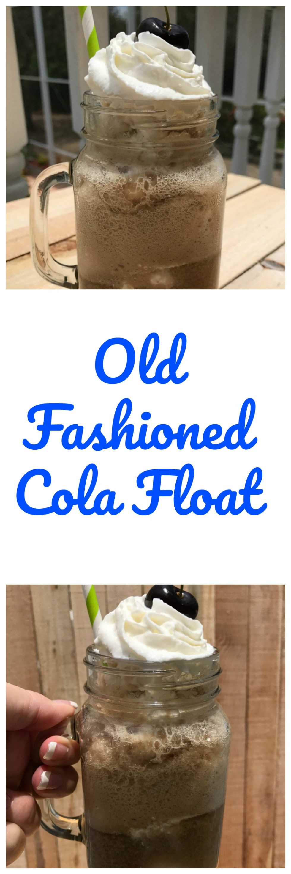 old fashioned cola float Pinterest image