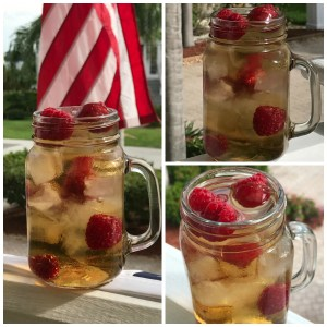 Brew up raspberry sun tea for sipping poolside.