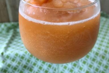 Cool off with a cantaloupe wine slushie.