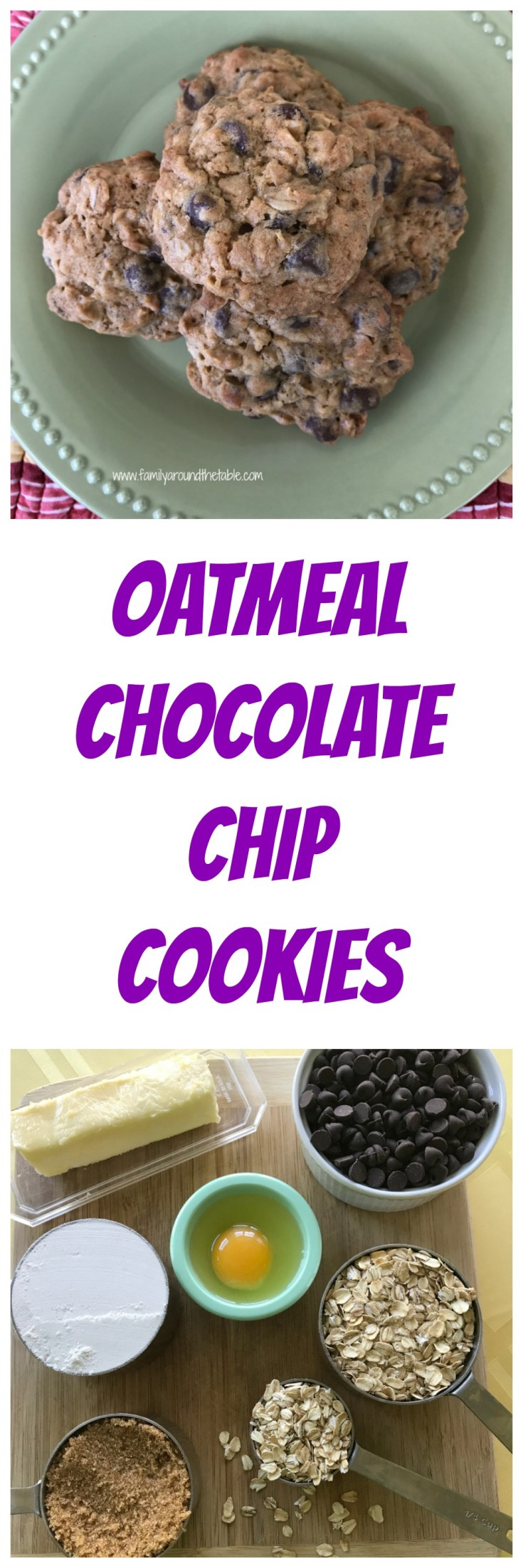 Oatmeal chocolate chops cookies are a special treat.