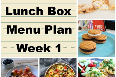 Lunch box meals don't have to be boring. Follow along on my menu plan for great ideas!