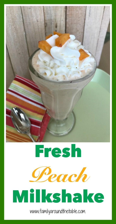 Enjoy a fresh peach milkshake for a treat anytime.
