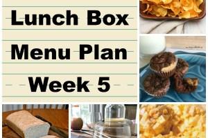 School Lunch Menu Plan Week 5