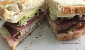 Roast Beef, Ham and Bacon Club Sandwich