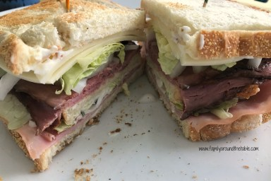 Club sandwiches with bacon are the best!
