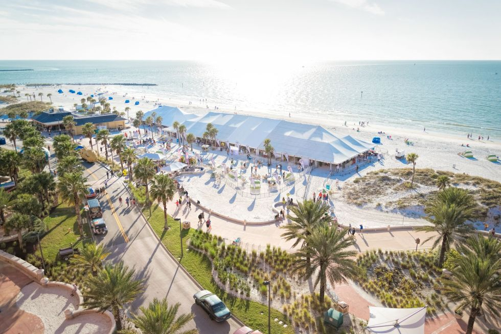 Clearwater Beach Uncorked on the sugar white sands of Florida's Gulf Coast.
