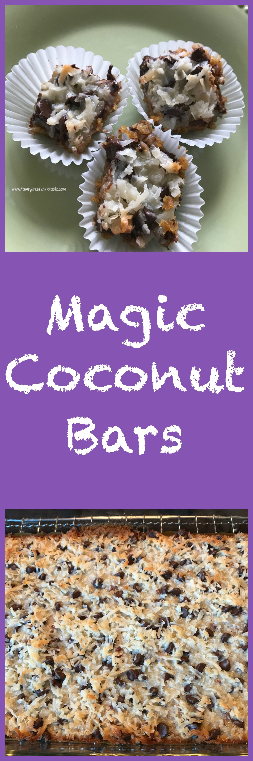 Magic coconut bars are a real treat.