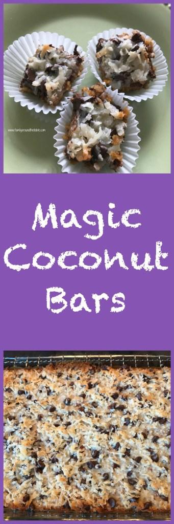 Magic coconut bars are a real treat.