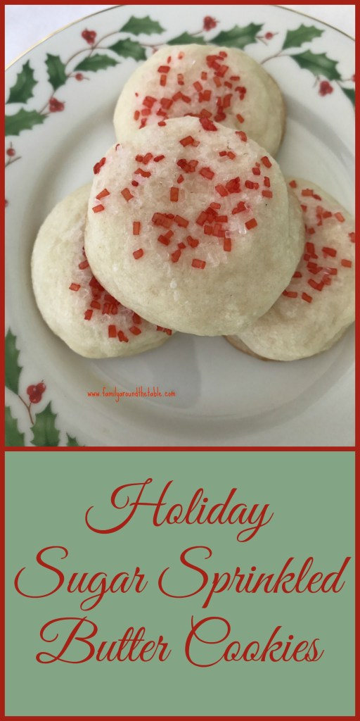 Butter cookies have a delicate texture and are a lovely addition to a holiday cookie tray