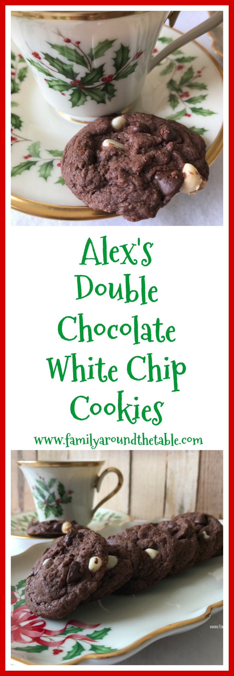 Alex's double chocolate white chip cookies.