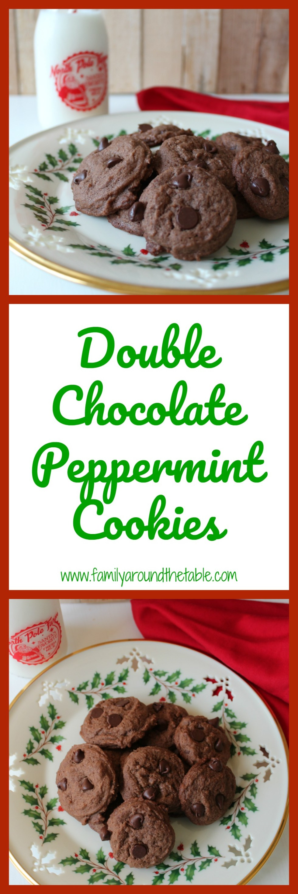 Double chocolate peppermint cookies are the taste of the holidays.