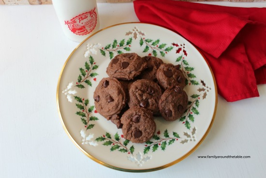 Double Chocolate Peppermint cookies for Christmas.