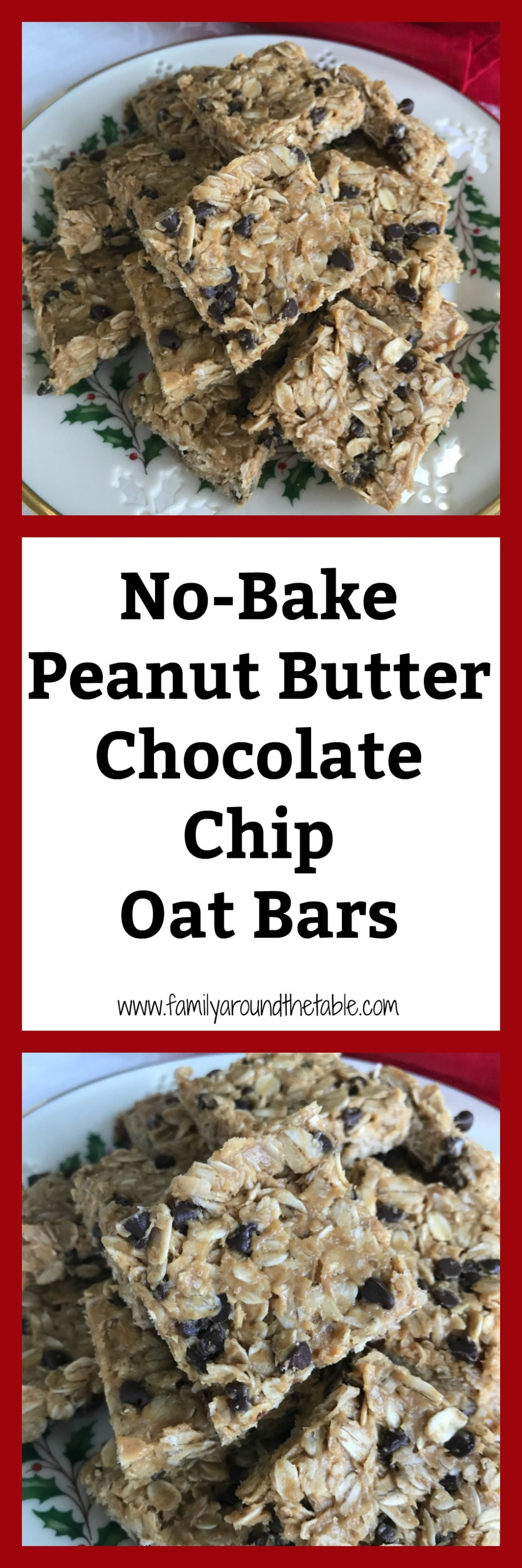 No-Bake peanut butter chocolate chip oat bars are easy enough for kids to make.
