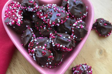 Valentine nonpareils make a sweet treat for your sweetheart.