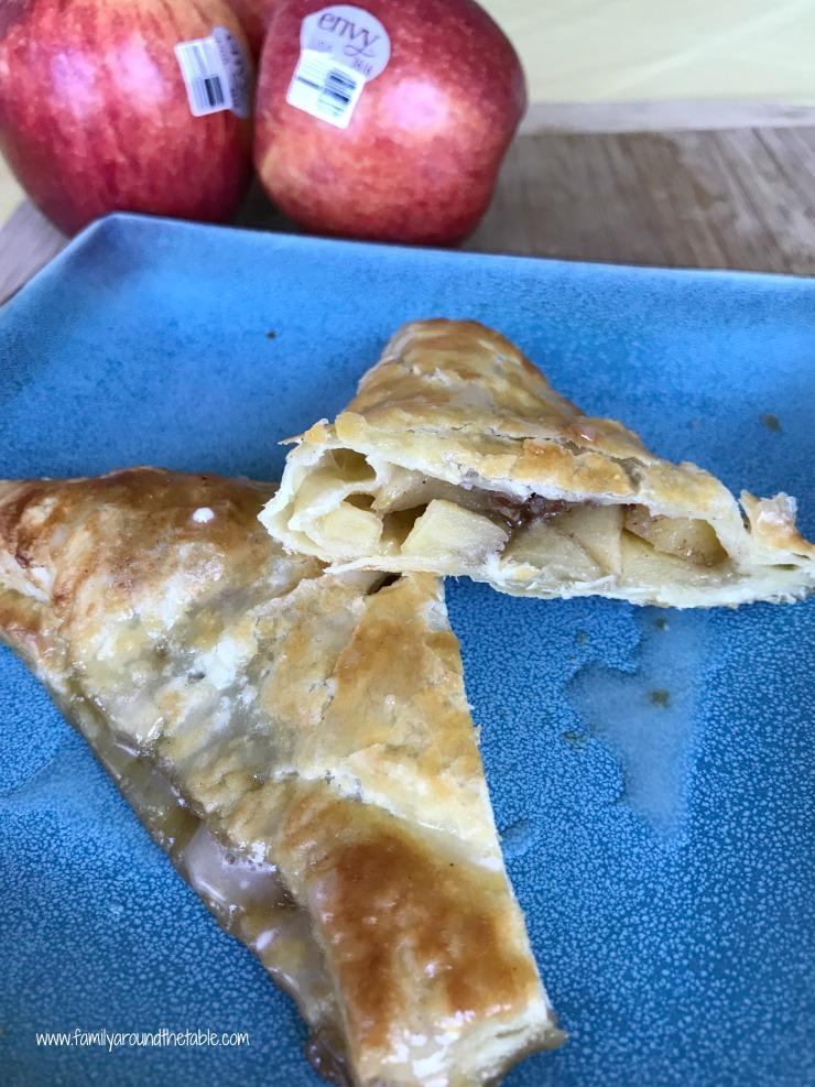 Cinnamon apple turnover with maple glaze.