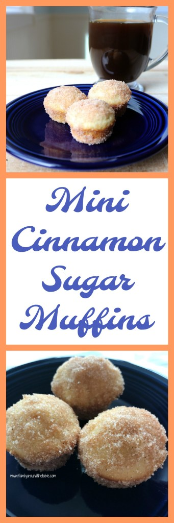 The whole family will love these mini cinnamon sugar muffins.