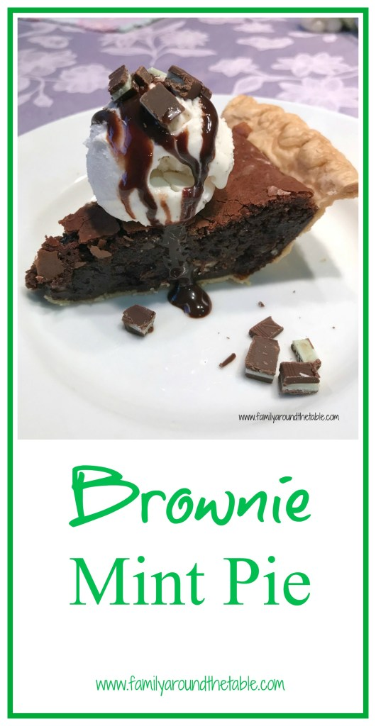 Celebrate Pi Day with a super easy brownie mint pie.