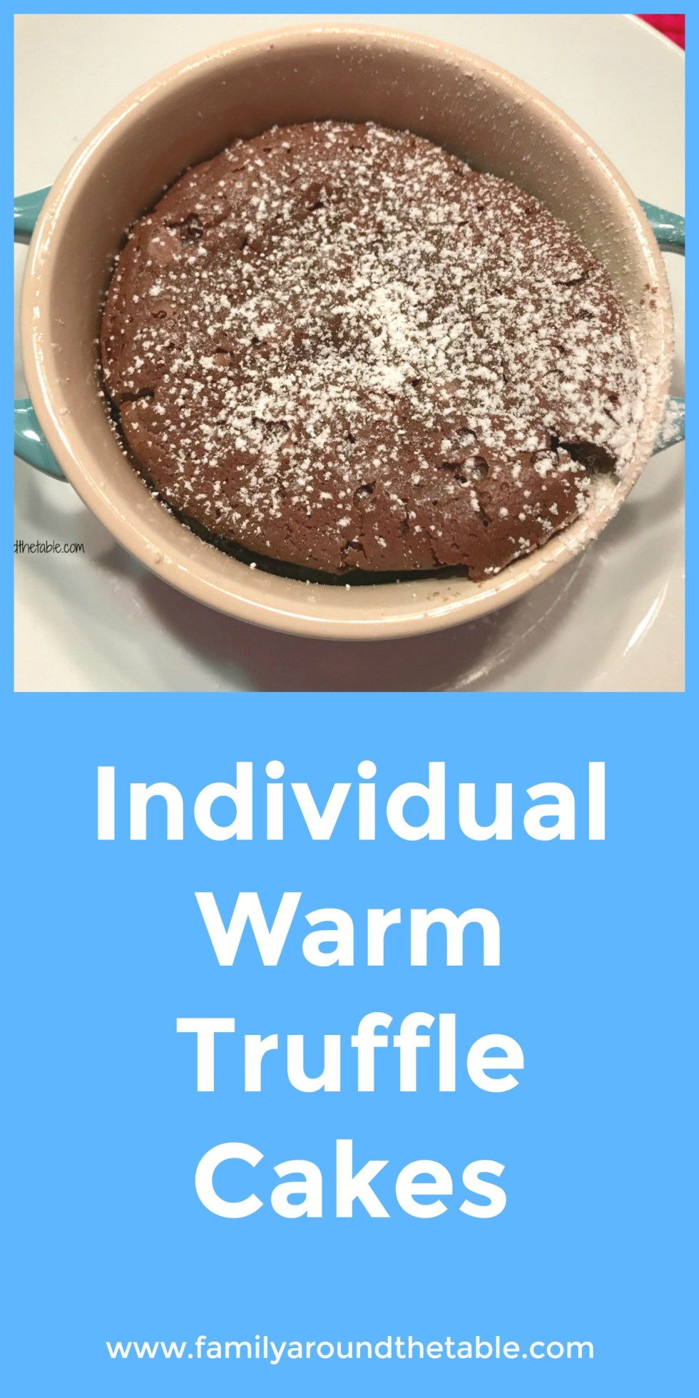 Individual warm chocolate truffle cakes are perfect for any occasion.