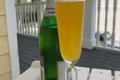 Mango Bellini's for afternoon sipping.