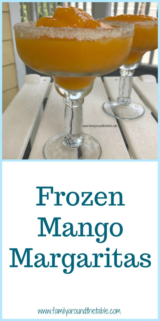 When you are gifted fresh mangoes, you make frozen mango margaritas. Perfect for summer.