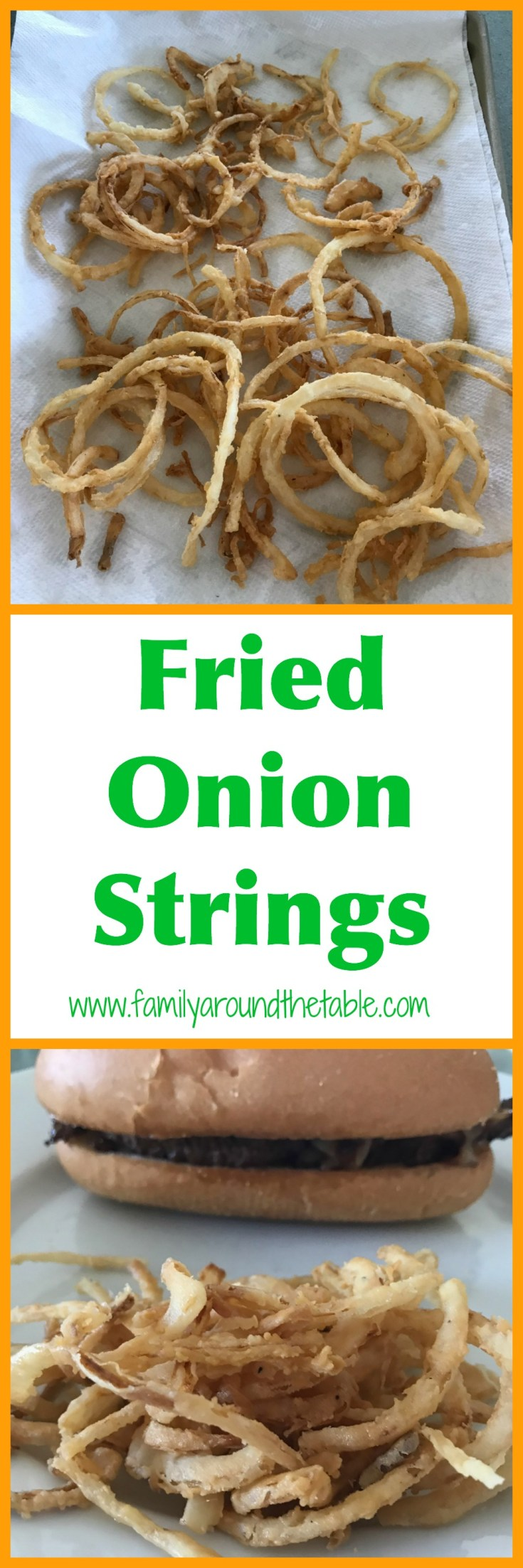 Restaurant style fried onion straws are easy to make at home. You're going to want to make a double batch.