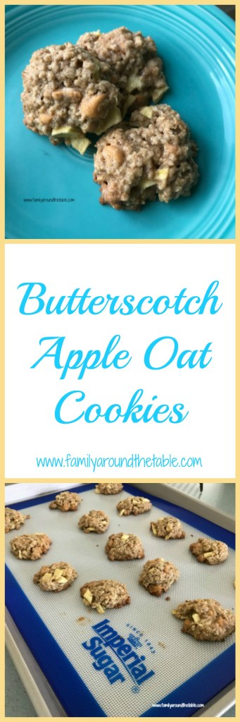 Butterscotch Apple Oat Cookies are perfect for the lunch box, after school or even a breakfast cookie. #AppleWeek