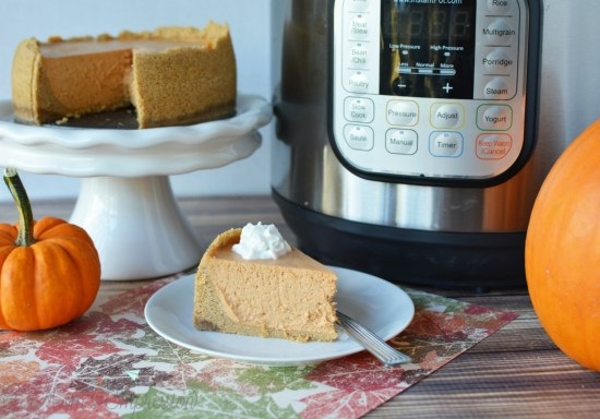 Instant pot pumpkin cheesecake from A Mom's Impression.