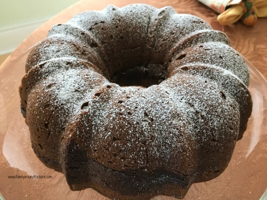 Chocolate Truffle Pumpkin Pound Cake #PumpkinWeek