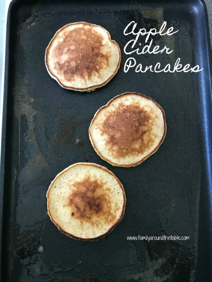 Apple Cider pancakes bring fall to the breakfast table. #AppleWeek