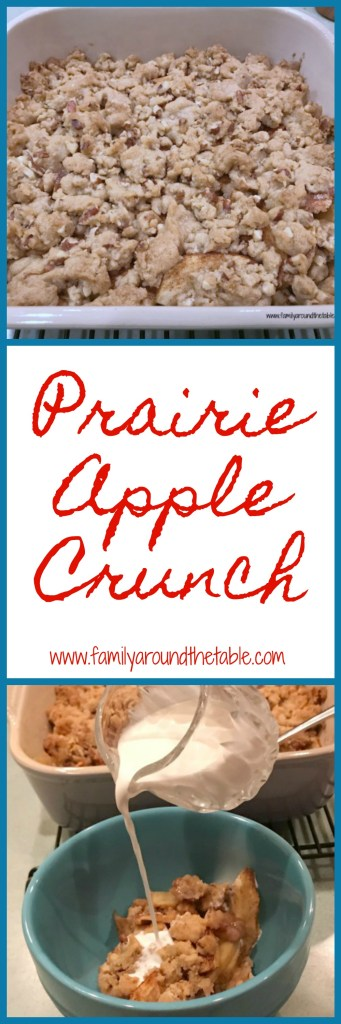 Prairie apple crunch is warm from the oven after dinner. #AppleWeek