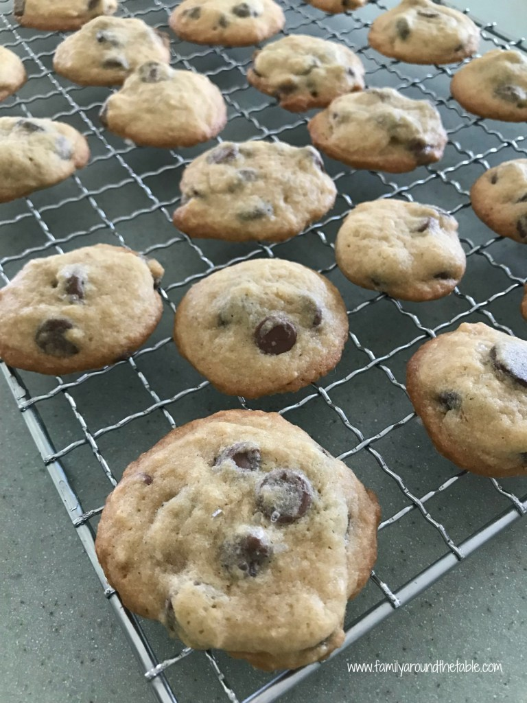 Salted Chocolate Chip Cookies are full of chocolate chips.