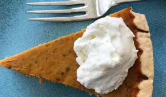 Mom's Classic Pumpkin Pie with Vanilla Whipped Cream