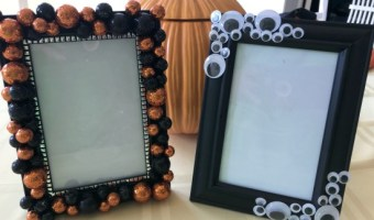 DIY Halloween Picture Frames