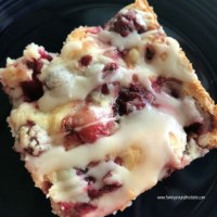 Glazed Cranberry Almond Squares
