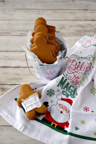 Gingerbread cut out cookies from A Kitchen Hoor's Adventures.