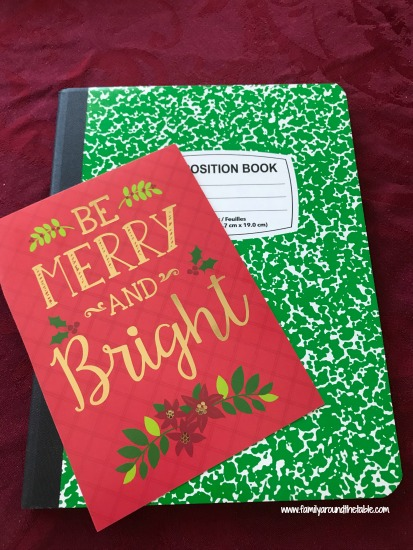This homemade holiday planner keeps all your ideas, recipes and gifts received in one place.