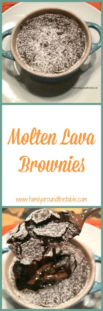 The warm and gooey center in these molten lava brownies is instant bliss.