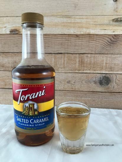 Torani salted caramel syrup.