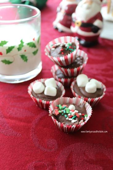 Hazelnut hot chocolate drops are a fun holiday treat.