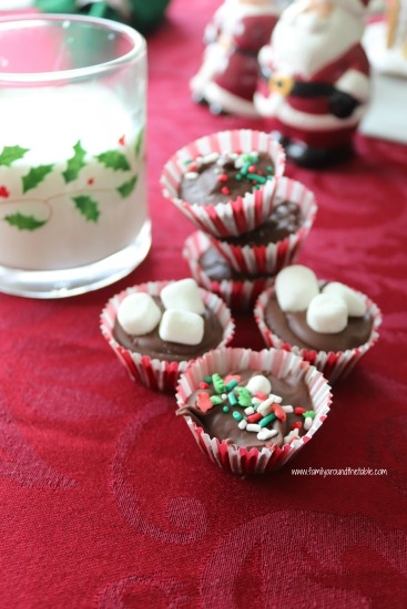 Hazelnut hot chocolate drops are a fun holiday treat.