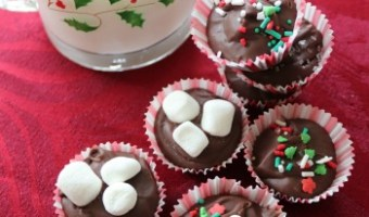 Hazelnut Hot Chocolate Drops #ChristmasSweetsWeek