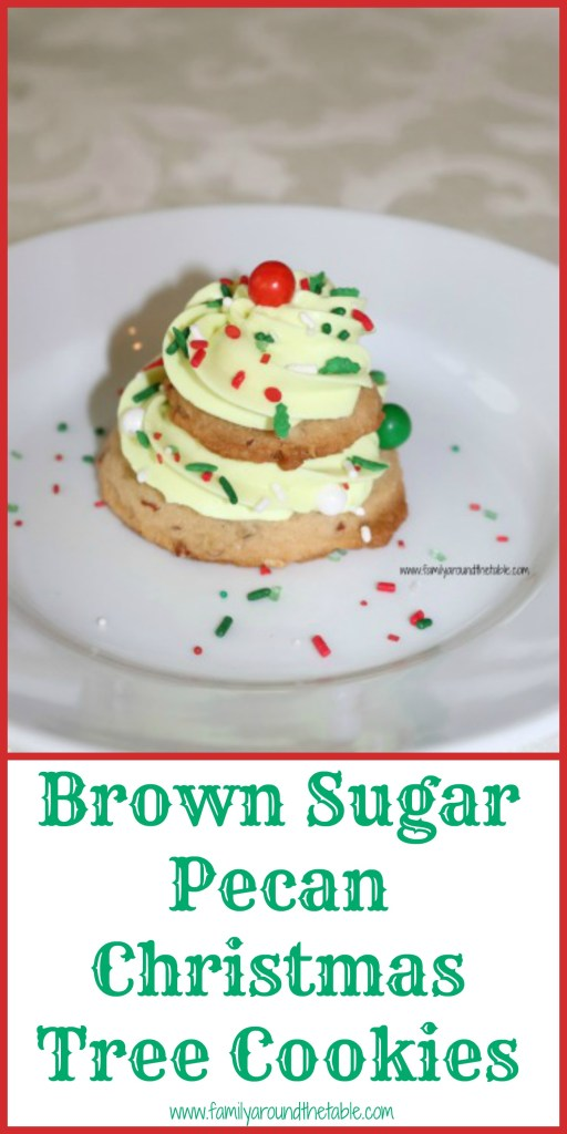 Brown Sugar Pecan Christmas Tree Cookies make a fun dessert for anyone! #ChristmasCookiesWeek