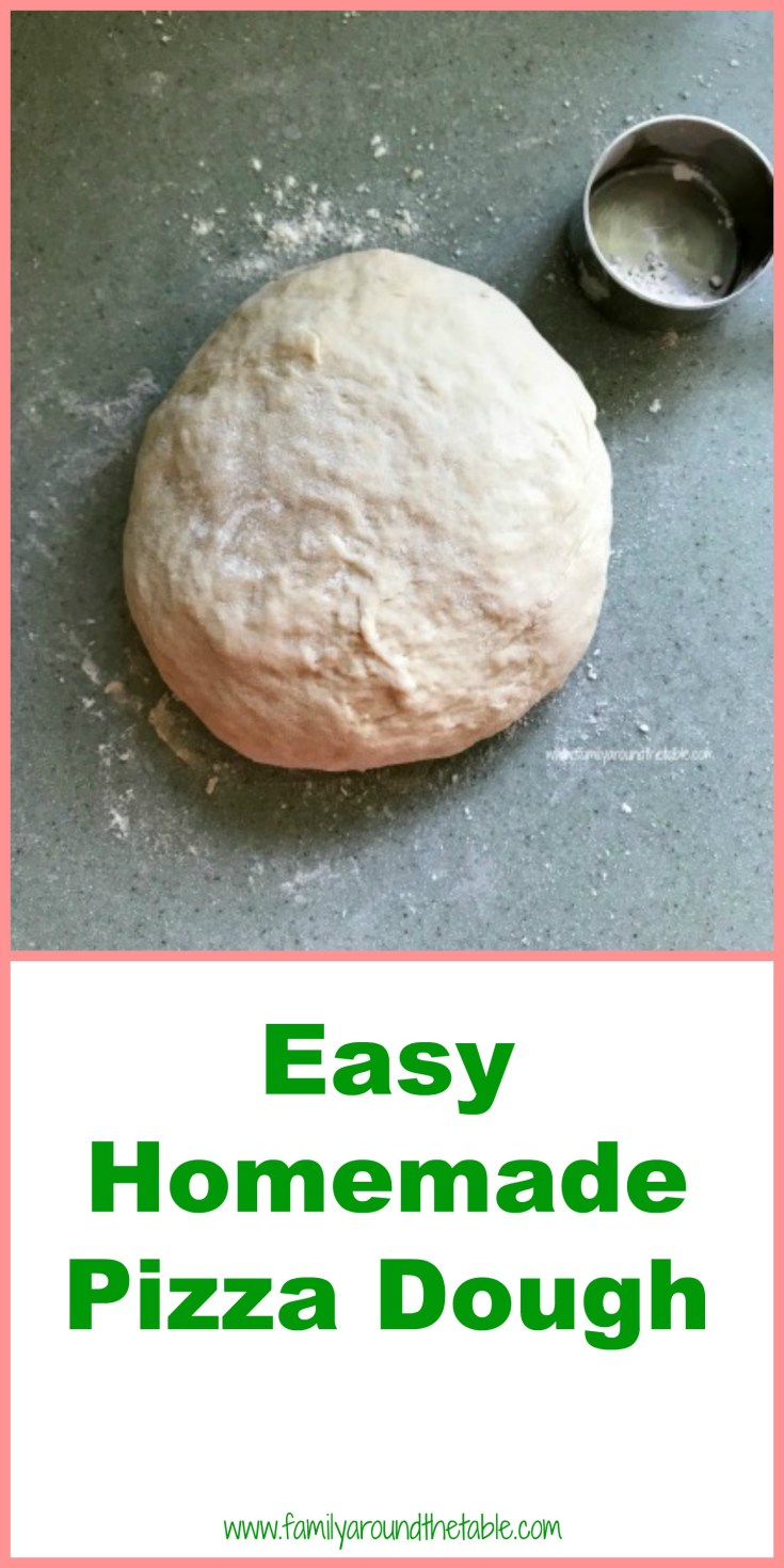 This easy homemade pizza dough requires no proofing of the yeast. It's really the easiest you'll ever make.