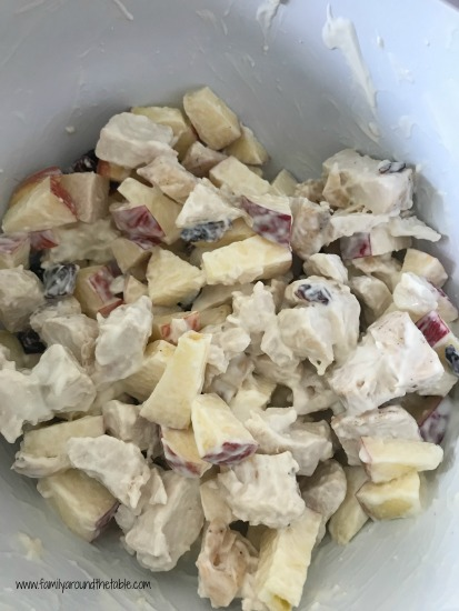 This apple chicken salad makes a great weekday or weekend lunch.