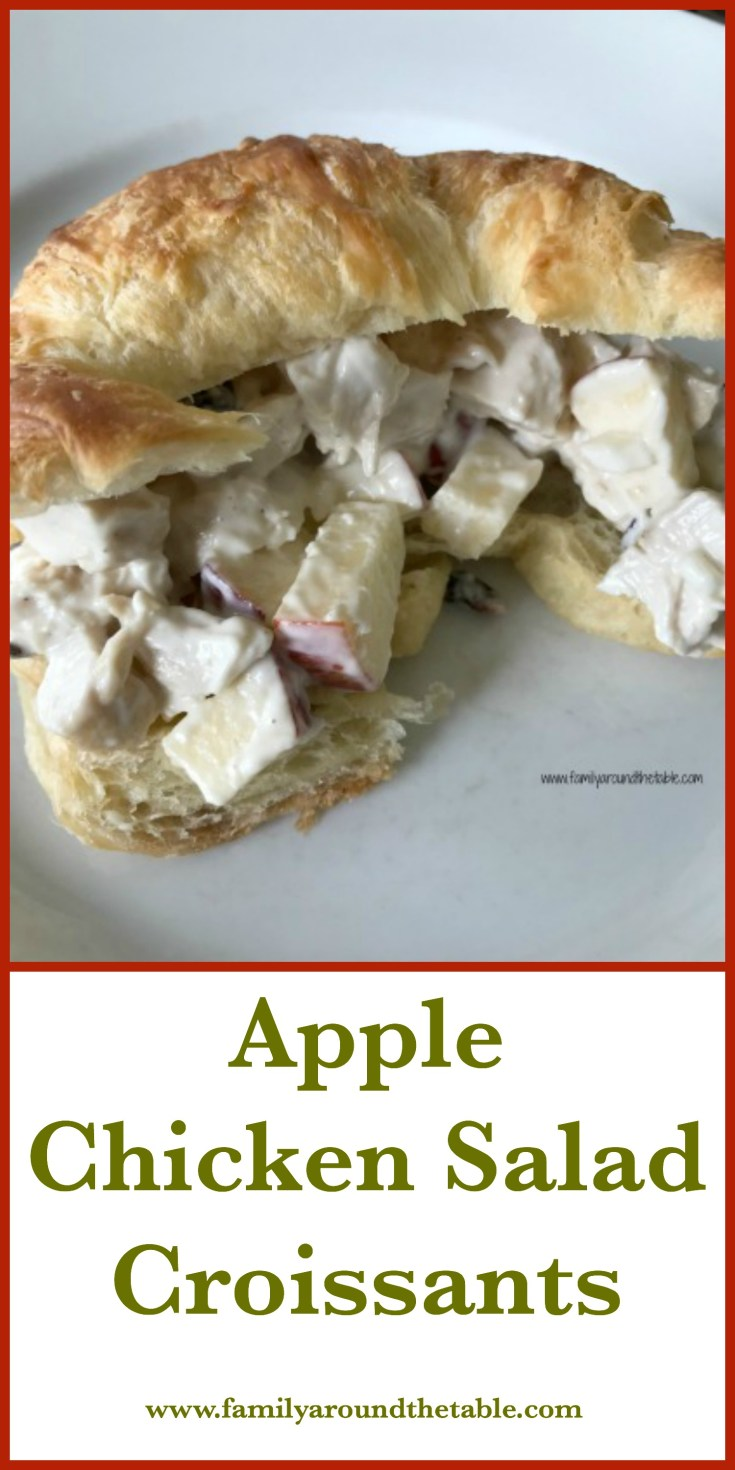 Apple chicken salad croissants make a perfect weekend lunch. Easy and delicious.