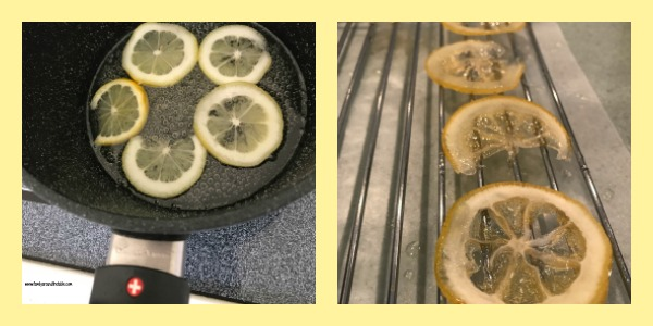 Candied lemon peel makes an impressive garnish.