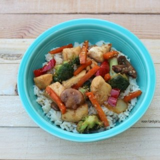 Easy chicken stir-fry gets dinner on the table in about 30 minutes.