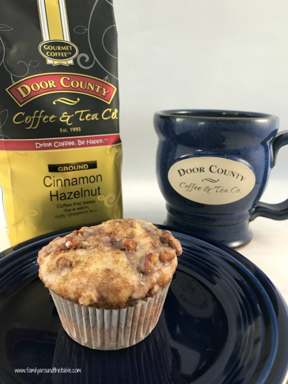 A coffee cake muffin and a cup of Door County Coffee are a  great start to the day.
