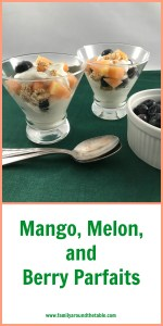 Mango, blueberry and melon are a delicious flavor combination for this parfait. #Brunchweek #ad